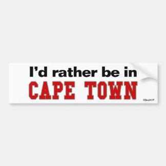 Estaría bastante en Cape Town Pegatina Para Coche