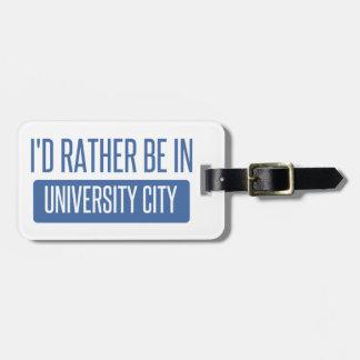Estaría bastante en ciudad de la universidad etiqueta para maletas