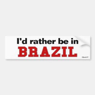 Estaría bastante en el Brasil Pegatina Para Coche