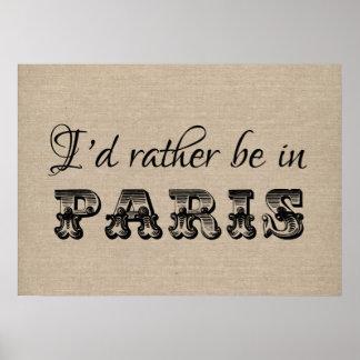 Estaría bastante en francés de la tipografía del v póster