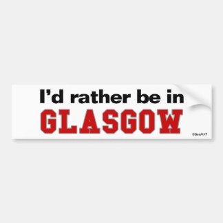 Estaría bastante en Glasgow Pegatina Para Coche
