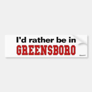 Estaría bastante en Greensboro Pegatina Para Coche