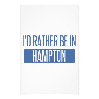Estaría bastante en Hampton Papelería