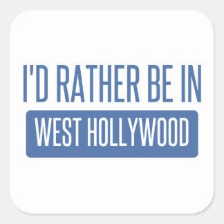 Estaría bastante en Hollywood del oeste Pegatina Cuadrada
