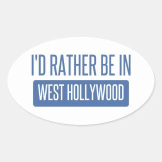 Estaría bastante en Hollywood del oeste Pegatina Ovalada