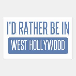Estaría bastante en Hollywood del oeste Pegatina Rectangular