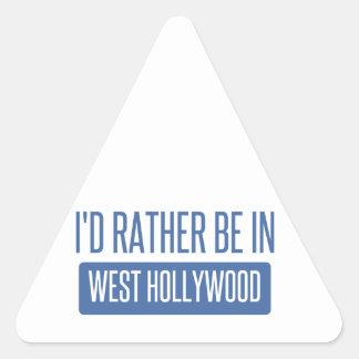 Estaría bastante en Hollywood del oeste Pegatina Triangular