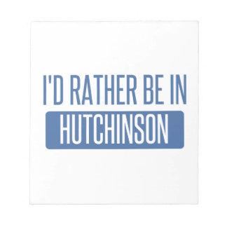 Estaría bastante en Hutchinson Bloc De Notas