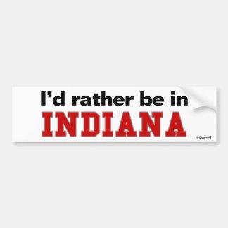Estaría bastante en Indiana Pegatina Para Coche