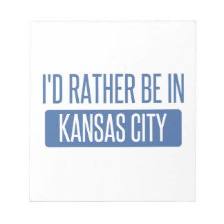 Estaría bastante en Kansas City MES Bloc De Notas