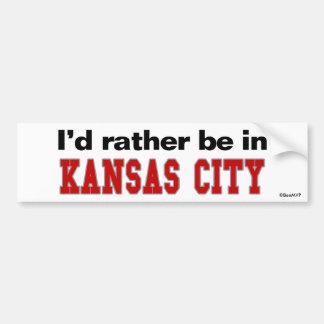 Estaría bastante en Kansas City Pegatina Para Coche