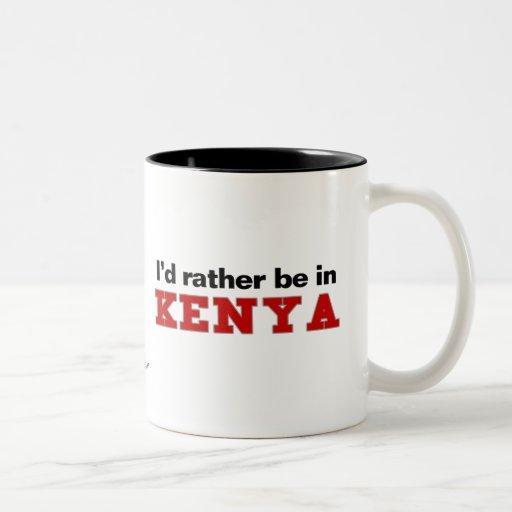 Estaría bastante en Kenia Taza