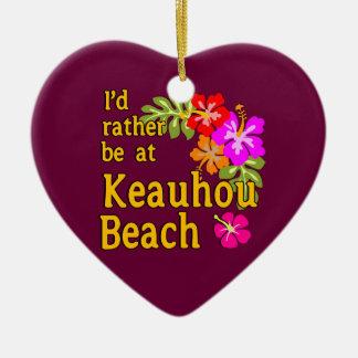 Estaría bastante en la playa de Keauhou Hawaii Ornamentos De Reyes Magos