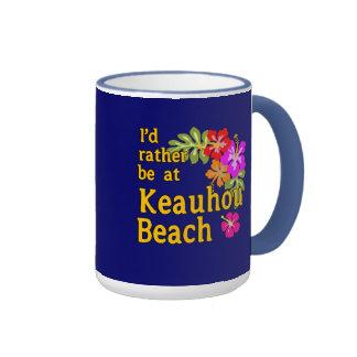 Estaría bastante en la playa de Keauhou, Hawaii Taza A Dos Colores