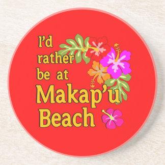 Estaría bastante en la playa de Makap'u, Hawaii Posavasos Personalizados