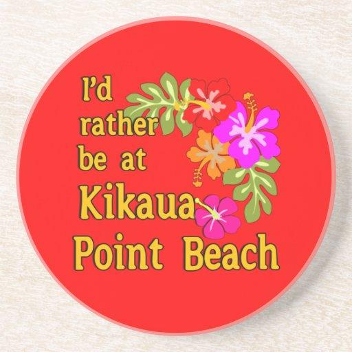 Estaría bastante en la playa del punto de Kikaua,  Posavasos Cerveza