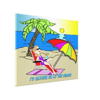 """Estaría bastante en la playa - mujer 24"""""""" el estir impresion en lona"""
