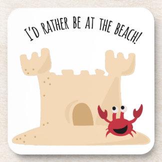 ¡Estaría bastante en la playa! Posavasos De Bebidas