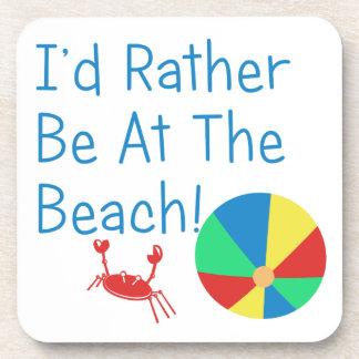 Estaría bastante en la playa posavasos