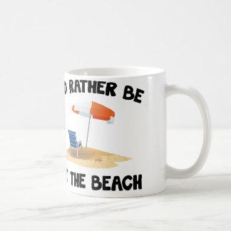 Estaría bastante en la playa taza de café