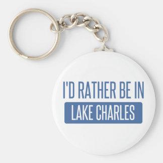Estaría bastante en Lake Charles Llavero Redondo Tipo Chapa