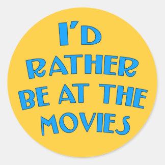 Estaría bastante en las películas pegatinas redondas