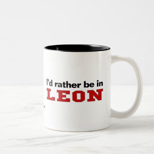 Estaría bastante en León Tazas De Café