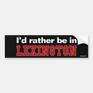 Estaría bastante en Lexington Pegatina Para Coche