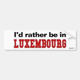 Estaría bastante en Luxemburgo Pegatina Para Coche