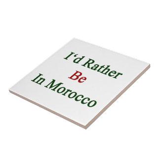 Estaría bastante en Marruecos Tejas Cerámicas