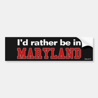 Estaría bastante en Maryland Pegatina Para Coche