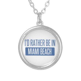 Estaría bastante en Miami Beach Collar Plateado