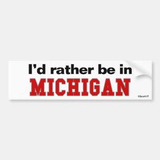 Estaría bastante en Michigan Pegatina Para Coche
