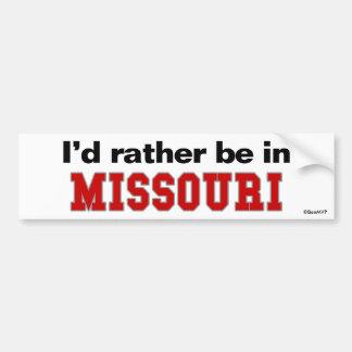 Estaría bastante en Missouri Pegatina Para Coche