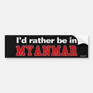 Estaría bastante en Myanmar Pegatina Para Coche