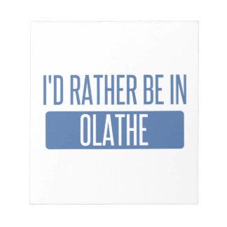 Estaría bastante en Olathe Bloc De Notas