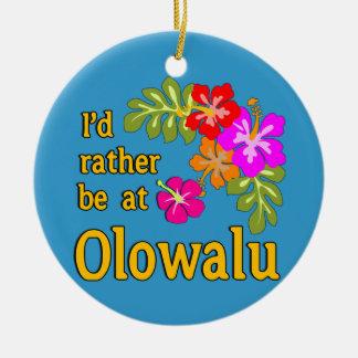 Estaría bastante en Olowalu Hawaii Adorno Redondo De Cerámica