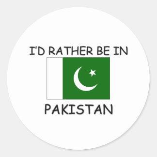 Estaría bastante en Paquistán Pegatina Redonda