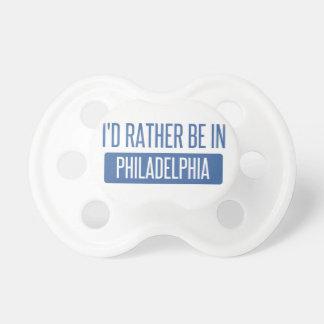 Estaría bastante en Philadelphia Chupete