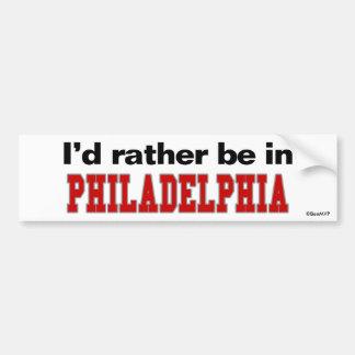 Estaría bastante en Philadelphia Pegatina Para Coche