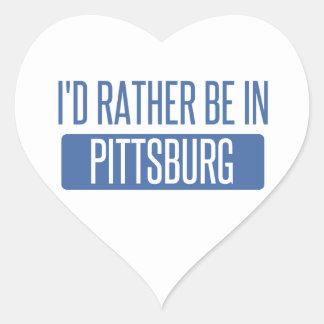 Estaría bastante en Pittsburg Pegatina En Forma De Corazón