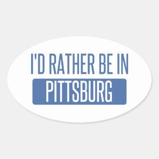 Estaría bastante en Pittsburg Pegatina Ovalada