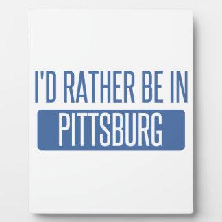 Estaría bastante en Pittsburg Placa Expositora