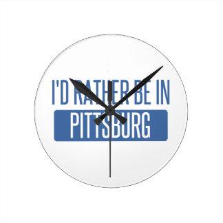 Estaría bastante en Pittsburg Reloj Redondo Mediano
