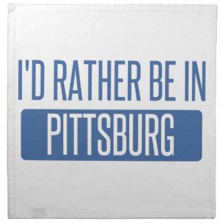 Estaría bastante en Pittsburg Servilleta De Tela