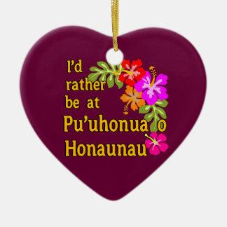 Estaría bastante en Pu'uhonua o Honaunau, Hawaii Ornamento Para Arbol De Navidad