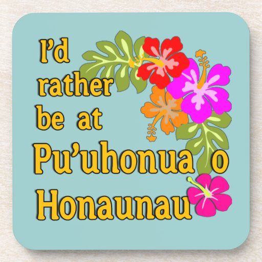 Estaría bastante en Pu'uhonua o Honaunau, Hawaii Posavasos De Bebidas