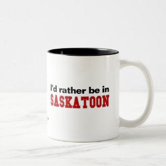 Estaría bastante en Saskatoon Taza Dos Tonos