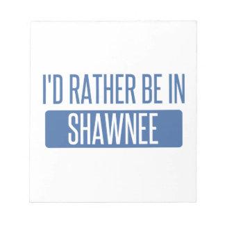 Estaría bastante en Shawnee Bloc De Notas