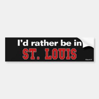 Estaría bastante en St. Louis Pegatina Para Coche